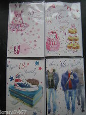 Son & Daughter 13th and 16th Birthday Cards