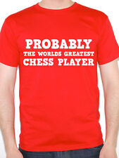 CHESS PLAYER - PROBABLY THE WORLDS GREATEST - Board Game Themed Mens T-Shirt