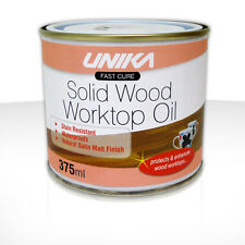 Solid Wood Kitchen Worktop Oil 375ml or 1litre Protects & Stain Resistant