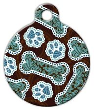 JAVA PAISLEY - Custom Personalized Pet ID Tag for Dog and Cat Collars
