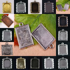 Wholesale Vintage Oblong Picture Photo Frame Charm Pendant Finding Silver Gold..