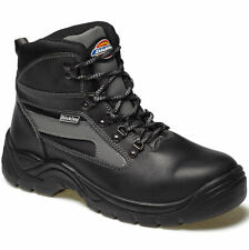 DICKIES SEVERN SAFETY WORK BOOTS SIZE UK 4 - 14 FA23500 BLACK LEATHER