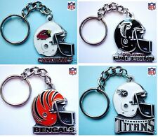 Choose Team NFL Keychain Key Chain Ring New Sculptured Solid Pewter Helmet