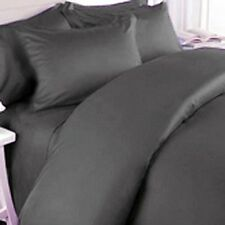 DARK GRAY SOLID COMPLETE USA BEDDING 1000TC 100% COTTON CHOOSE SIZE AND ITEMS