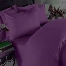 PURPLE SOLID COMPLETE USA BEDDING ITEM 1000TC 100% COTTON CHOOSE SIZE AND ITEMS