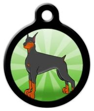 DOBERMAN - Custom Personalized Pet ID Tag for Dog and Cat Collars