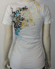 NWT ARCHAIC by AFFLICTION womens PETRIFIED ss VNECK baby tee ARW434 white *S-XL