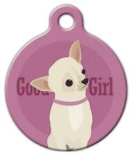 GOOD GIRL - CHIHUAHUA - Custom Personalized Pet ID Tag for Dog and Cat Collars