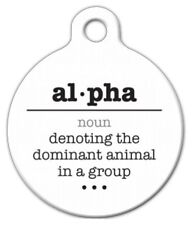 ALPHA WORD DEFINITION - Custom Personalized Pet ID Tag for Dog and Cat Collars
