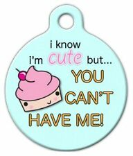 CUTE AS A CUPCAKE - Custom Personalized Pet ID Tag for Dog and Cat Collars
