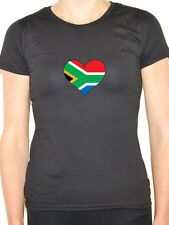 SOUTH AFRICA /SOUTH AFRICAN FLAG IN A HEART SHAPE Novelty Themed Womens T-Shirt