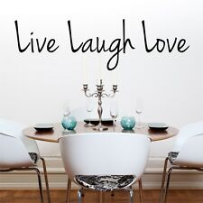 LIVE LAUGH LOVE wall quote sticker living room den vinyl wall decals