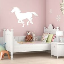 RUNNING HORSE SILHOUETTE wall decal bedroom kids vinyl wall stickers