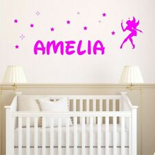 PERSONALISED FAIRY WITH STARS wall decal girls bedroom wall sticker