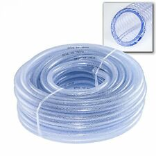 PVC Braided Tubing x 30m Coil Hose Pipe Irrigation Water Fuel Ponds From £ 5.95