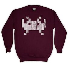 ALIEN SPACE INVADERS UNOFFICIAL VIDEO GAME SWEATER JUMPER TOP ADULTS KIDS SIZES