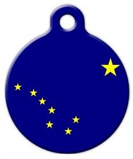 ALASKA FLAG - Custom Personalized Pet ID Tag for Dog and Cat Collars