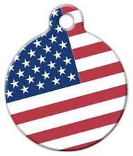 AMERICAN FLAG - Custom Personalized Pet ID Tag for Dog and Cat Collars