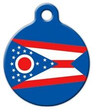 OHIO FLAG - Custom Personalized Pet ID Tag for Dog and Cat Collars