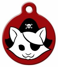 RED KITTY PIRATE - Custom Personalized Pet ID Tag for Dog and Cat Collars