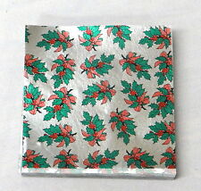Holly  Candy Foil Wrappers Confectionery Foil 125 count