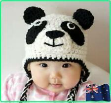 Baby Crochet Animal Hat Beanie Panda Knit Crochet Hat Bub Cap Winter Gift!!