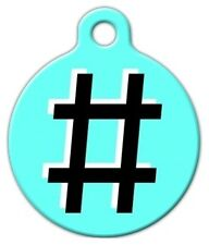 HASH TAG - Custom Personalized Pet ID Tag for Dog and Cat Collars