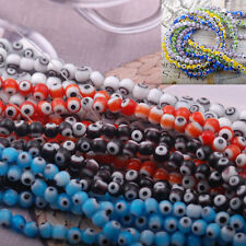 strand Hamsa greek evil eye lampwork glass loose beads spacer turkish 14.5""