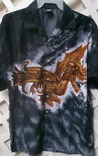 NEW FLYING DRAGON button down HAWAIIAN STYLE SHIRT by DEGREE
