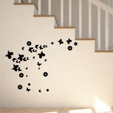 BUTTERFLIES AND FLOWERS children car butterfly Wall Stickers bedroom
