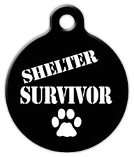 SHELTER SURVIVOR - Custom Personalized Pet ID Tag for Dog and Cat Collars
