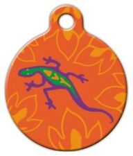 GO GO GECKO LUPINE PATTERN - Custom Personalized Pet ID Tag for Dog Cat Collars