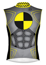 Primal Wear Crash Test Dummy Cycling Jersey Sleeveless Men's  with DeFeet Socks