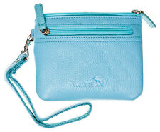 WalletBe Women's Leather Pouch Accordion Wallets, Wristlet, Outer ID, Zip Around