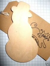 Wooden Shape Snowman Pack of 3, 6, or 9 Wood Embellishment blank plaques