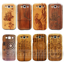 100% Real Natural Wood Bamboo Hard Case Cover for Samsung Galaxy S III S3 I9300