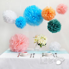 """15"""" Wedding Tissue Paper Pom Poms Party Xmas Home Outdoor Flower Ball Decoration"""