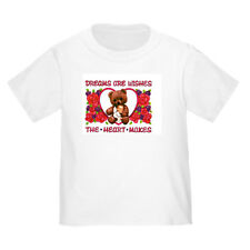 YOUTH KIDS T-SHIRT Angel teddy bear Dreams are wishes the heart makes (k-411)