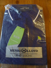 HENRI LLOYD OFFICIAL TEAM POLO SHIRT SAILING PURPLE BLUE COTTON UK 16 WHITE EDGE