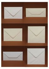 "50 Quality Envelopes (ivory,white,cream) C5,C6,C7,DL,113mm,130mm,155mm & 5"" x 7"""