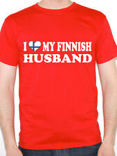 I LOVE MY FINNISH HUSBAND - Finland / Europe / Nordic /Fun Themed Mens T-Shirt