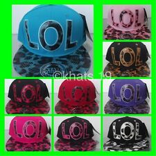 BRAND NEW FLAT PEAK VINTAGE 'LOL' SNAPBACK BASEBALL CAP WITH TAGS