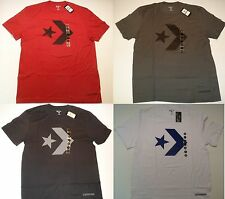 $34 New NWT Men's Converse Basketball T-Shirt White Blue Chevron Size Small S