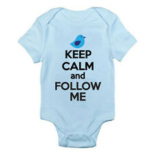 KEEP CALM AND FOLLOW ME - Humorous / Novelty / Network Themed Baby Grow/ Suit