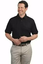 Port Authority 65% Polyester 35% Cotton Silk Touch Short Sleeve Polo Shirt New