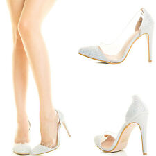 Rainbow AB Rhinestone Crystal Stiletto Heel Lucite Prom Dress Bridal Pump Sandal