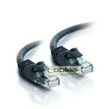 CAT6 RJ45 ETHERNET LAN NETWORK Patch CABLE BLACK PS3 XBOX 50FT 75FT 100FT 200FT
