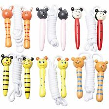 Children's Wooden Handle Skipping Rope Animal Colourful Cartoon Zoo Characters
