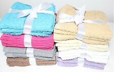 3 Pack 100% Cotton Face Towels Cloth Flannels Wash Cloths Gift Packed 30 x 30cm