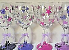 HAND PAINTED PERSONALISED WINE GLASS PINT GLASS OR CHAMPAGNE FLUTE GIFT